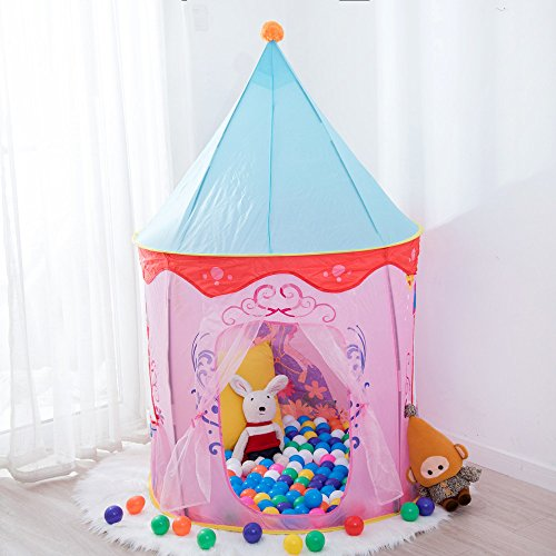 Kids Tent,Anyshock Outdoor and Indoor Tent PlayHouse Castle Baby Toys as a Best Christmas Gift for 1-8 Years Old Kids Boy Girls Toddler Infant (No LED Light,Mongolia 1)