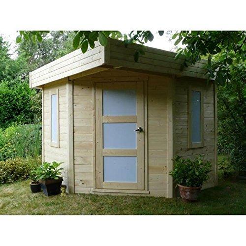 Caseta de jardín para esquina (madera Chanzy 6, 5 m²: Amazon.es ...