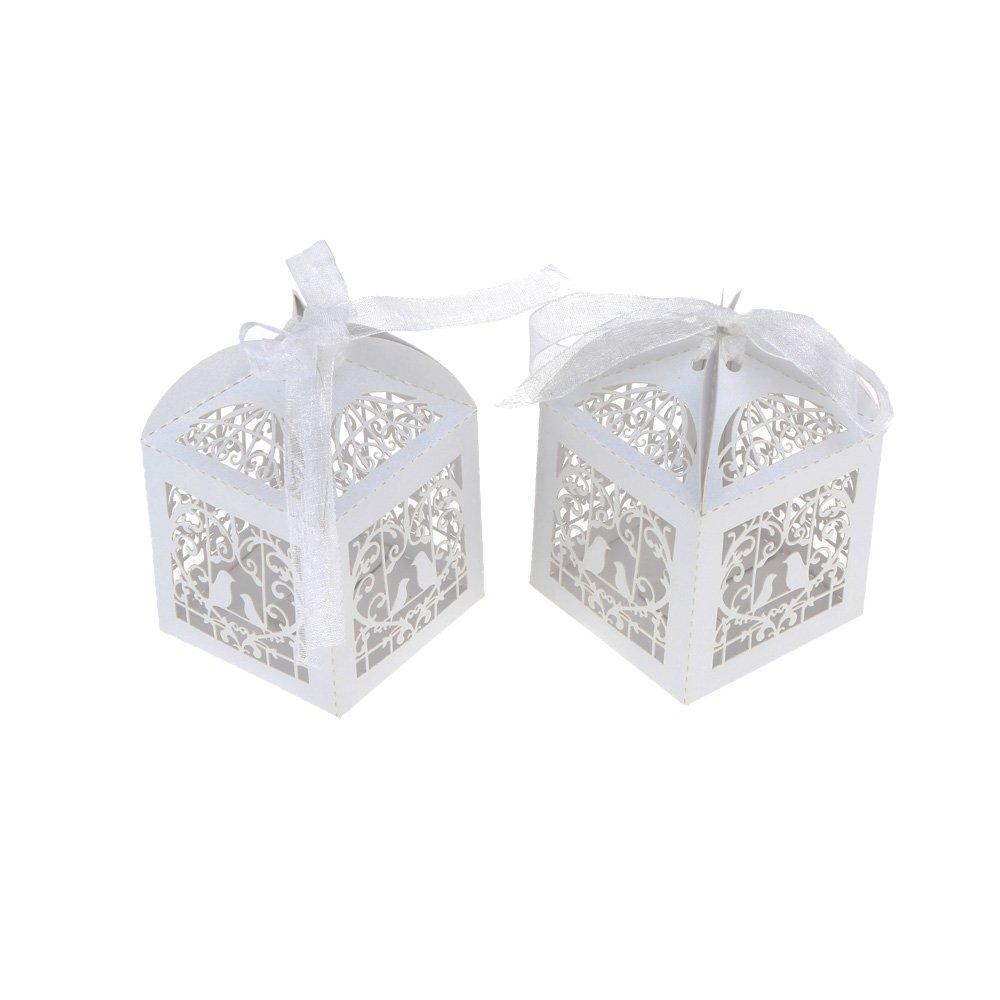 Ziaxa£¨TM£ Romantic Wedding Favor Candy Boxes Mini Bird cage DIY ...