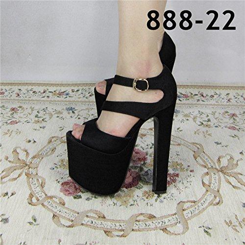 Xing Lin Sandalias De Mujer Gruesas Con Sandalias De Primavera Y Verano Nuevo Espesor Con Taiwán Impermeable Alto Cm Noche Zapatos De Mujer 18 888-22