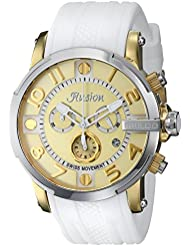 MULCO Unisex MW3-12239-012 Ilusion Roll Analog Display Swiss Quartz White Watch