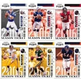 2006 Playoff Contenders Football Series 100 Card Complete Mint Basic Loaded with Stars Including Ben Roethlisberger, Michael Vick, Brett Favre, Peyton Manning, Tom Brady, Larry Johnson, Cadillac Williams, Ladainian Tomlinson, Brian Urlacher, Carson Palmer, Donovan Mcnabb and Many Others! ()