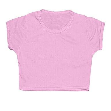 cb2e69377252 Girls Plain Crop Top Kids Plain T Shirt Fashion Summer Tops for Girls 7 8 9