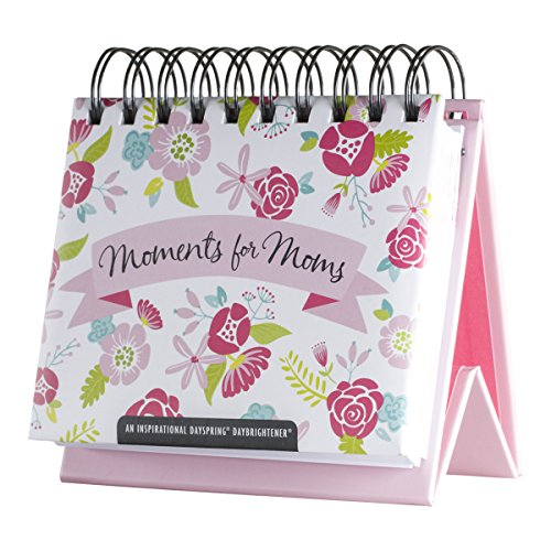 DaySpring Moments for Moms, DayBrightener Perpetual Flip Calendar, 366 Days of Scripture (77912)