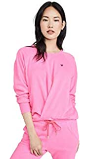 SUNDRY Womens Studs Raw Boxy Sweatshirt