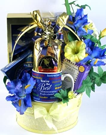 Image Unavailable. Image not available for. Color Worldu0027s Best Secretary Elegant Thank You Gift Basket ... & Amazon.com : Worldu0027s Best Secretary Elegant Thank You Gift Basket ...