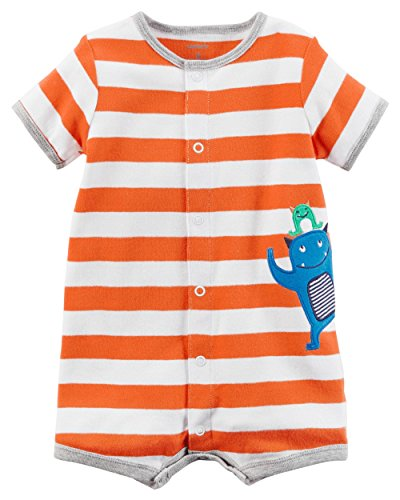 Carter's Baby Boys' Striped Monster Romper Newborn