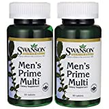 Cheap Swanson Multi Men's Prime Multivitamin Multimineral Energy Vitality Prostate Sexual Health Support Wellbeing Supplement 180 Tablets (Tabs)