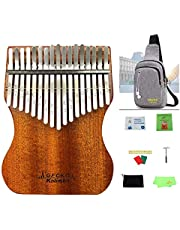 Newest Gecko Mahogany Professional Kalimba 17 keys with Gig Bag Protective Case High Performance Thumb Piano with Accessories Tuning Hammer, Study BookNewest Gecko Mahogany Professional Kalimba 17 keys with Gig Bag Protective Case High Performance Thumb Piano with Accessories Tuning Hammer, Study Book