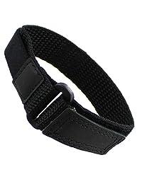 13-16mm Timex Ironman Black Nylon Sport Strap Ladies Watch Band TX882202