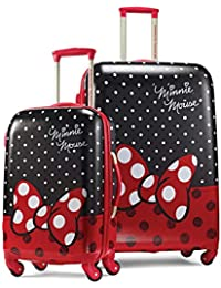 Disney Hardside Luggage with Spinner Wheels, Minnie Mouse Red Bow, 2-Piece Set (21/28)