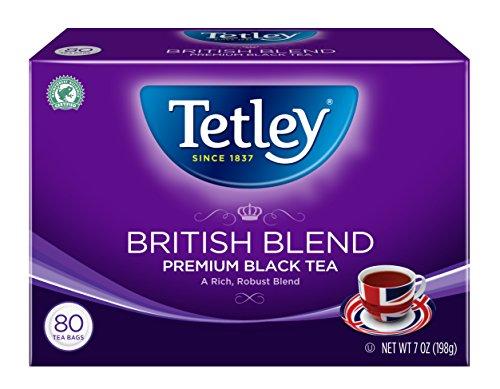 : Tetley Premium Black Tea, British Blend, 80 Tea Bags (Pack of 6)