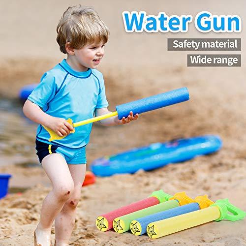 Lucky Doug Water Gun for Kids, 6PCS Foam Water Blaster Squirt Gun Set Water Guns Pool Toys for Kids Water Blaster Gun Shooter Swimming Pool Party Outdoor Beach Sand Play Game Toy