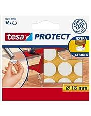 Tesa Oppervlaktebeschermers, Anti Scratch Zelfklevend Vilt Rond 18 Mm Dia, Wit (16 Pads) (Oude Versie)
