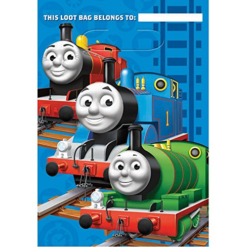 Amscan Thomas The Train Plastic Treat Bags -