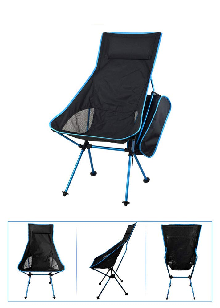 Skybluee Portable Collapsible Moon Chair Fishing Camping BBQ Stool Folding Extended Hiking Seat Garden Ultralight Office Home Furniture