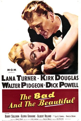 Kirk Douglas and Lana Turner in The Bad and the Beautiful 24x36 Poster (Lana Turner Poster)