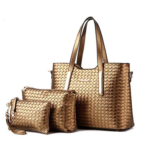 loisir femme bandoulière bandoulière porte sac epaule sac café Sac 3pcs à femme Sacoche sac mode sac main blanc Sac cuir Cuir à Honeymall pu UAq6Rwn