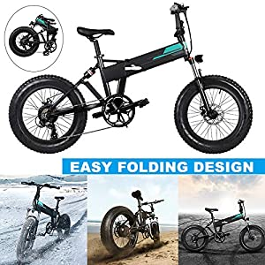 51NmzTBb9jL. SS300 Valigrate Electric Mountain Bike 20x4 inch Auminum Electric Folding Bikes Fat Tire, Level 3 Speed Regulation,36V 12.5Ah…