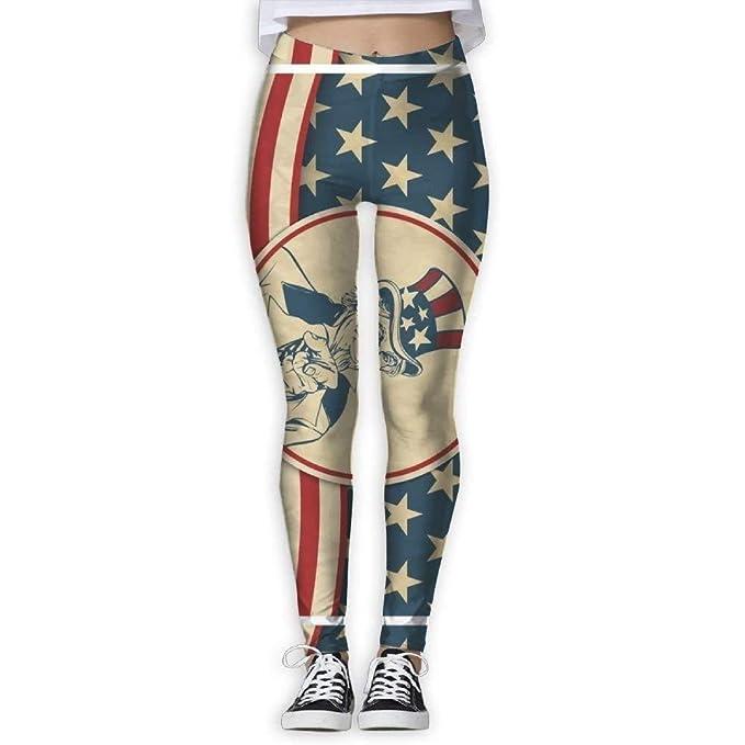 Amazon.com: Pantalones de yoga para mujer Americana Uncle ...
