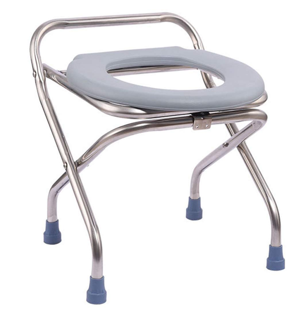 G-LXYZBQSHYP Folding Commode Chair Portable Toilet Seat Adult Mobile Toilet Bedside Potty Chair by G-LXYZBQSHYP