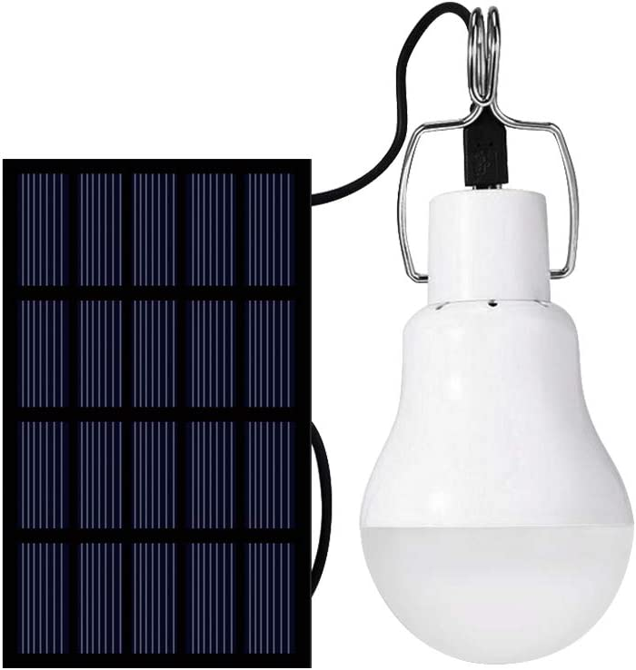Solar Light Bulb 130LM Solar Lamp Portable LED Light