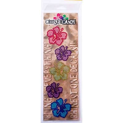 Cruiser Candy Bling Hibiscus Flower Bicycle Decals : Sports & Outdoors