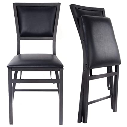 Folding Dining Chairs Padded.Amazon Com Modern Design Folding Dining Chair Sturdy