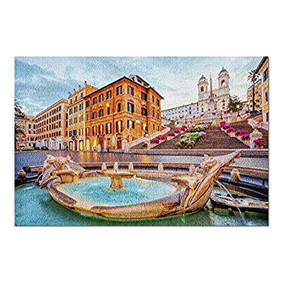 Rome, Italy - Spanish Steps at Dusk 9010670 (Premium 1000 Piece Jigsaw Puzzle for Adults, 20x30, Made in USA!): Toys & Games