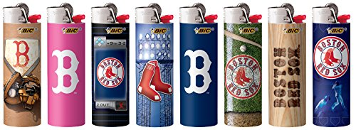 (Boston Red Sox Bic Lighters 8pk 8 Different Designs (8)