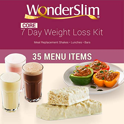 WonderSlim Core 1 Week Diet Kit - Complete Weight Loss Package - Meal Replacements, Protein Supplements, Snacks and Lifestyle Guide by WonderSlim (Image #2)