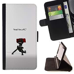 Momo Phone Case / Flip Funda de Cuero Case Cover - Soy un PC;;;;;;;; - HTC DESIRE 816