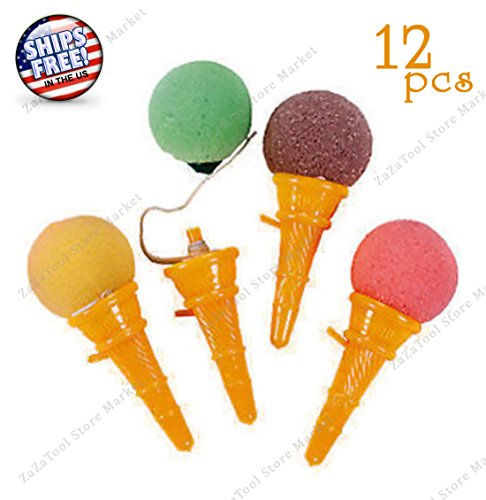 Wooden Stacking Cones (ZaZaTool - 12 ICE CREAM CONE TOY SHOOTERS Birthday Social Party Favor Game)