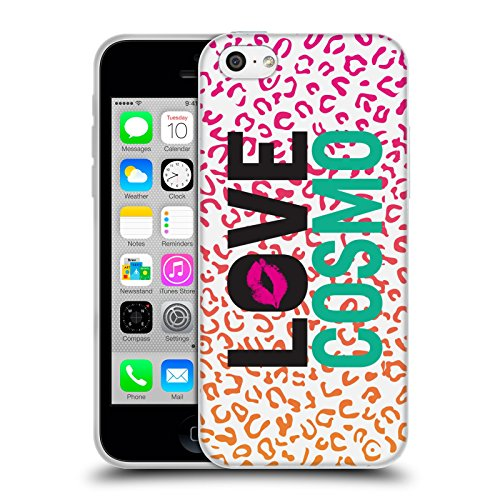 Official Cosmopolitan Leopard Love Cosmo Soft Gel Case for Apple iPhone 5c