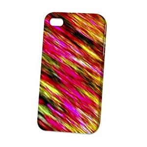 Case Fun Apple iPhone 4 / 4S Case - Vogue Version - 3D Full Wrap - Abstract Pink Pattern Style 2