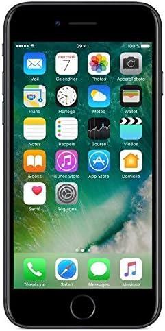 """Apple iPhone 7 - Smartphone DE 4,7"""" con Tecnología IPS (Chip A10 Fusión, Cámara Dual 12 MP, IP67) Color Negro Brillante (Reacondicionado) (CPO)"""