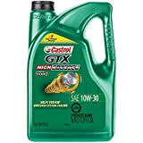 Castrol 03110 GTX High Mileage 10W-30 Synthetic Blend Motor Oil, 5 Quart, 3 Pack