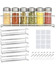 Zilveren kruidenrek met 4 verdiepingen voor keuken zilver / kruidenrek muur in zilver / kruidenrek zilver / kruidenrek staand / keukenrek muur