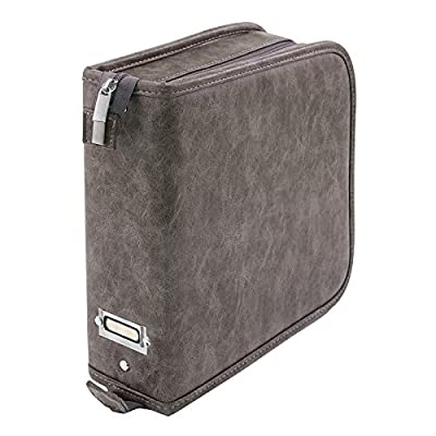 Stamp Storage Binder by Tim Holtz Idea-ology, Faux Leather, 3 H × 10 W × 9.75 D Inches, Gray (CH93822): Arts, Crafts & Sewing