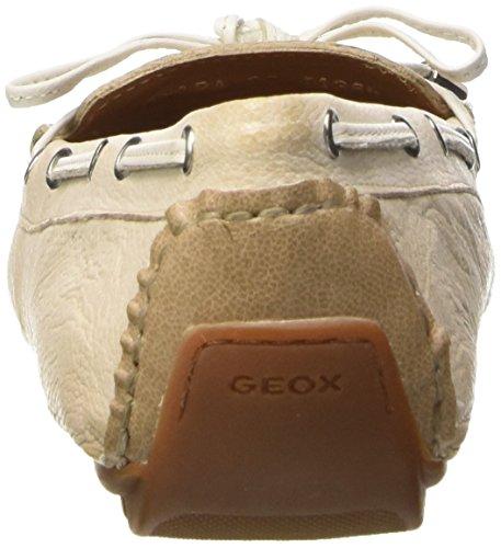Geox D Clelia a, Mocasines para Mujer Crema