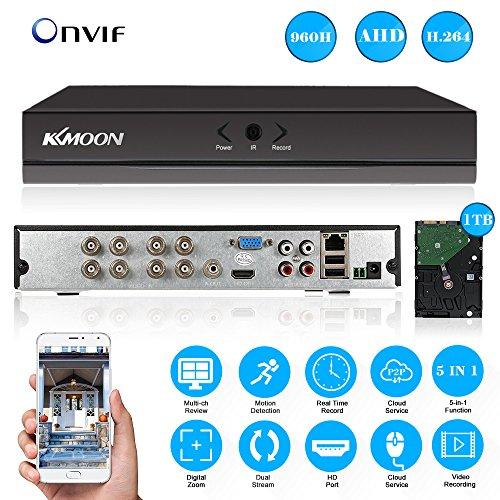 KKMOON 8CH DVR with 1TB Hard Drive; 8 Channel Full 960H/D1 DVR HVR NVR HDMI...