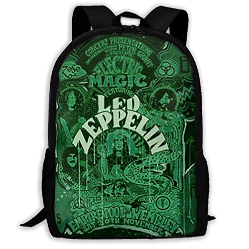 Hoopg Cool Led Zeppelin Bag Backpack Full-print Backpack Children's Backpack Backpack Fashion Backpack Stylish Sturdy Durable Comfortable