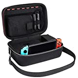 Nintendo Switch Carrying Case,Lifeasy Deluxe Protective Portable Pouch and System Hard Shell Travel Case for Nintendo Switch Console & Accessories Black