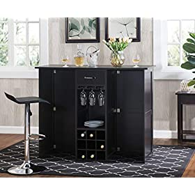 2L Lifestyle  Southwood Folding Wine Cabinet Bar, ...