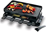 Classic 8-Person Black Raclette Grill