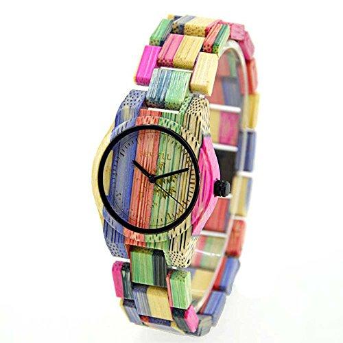 200m Bracelet Case (Rainbow Watches, Joberry Quartz Analog Lover's Wrist Watch Wooden Band Vintage Retro Wristwatch (Women))