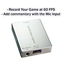 HornetTek HDMI Video Capture Device / Video Game Recorder with Mic Input USB 3.0 1080P 60 FPS Video & Audio Grabber