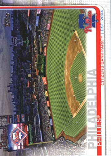 Phillies Bank Citizens Park - 2019 Topps Series 1 Baseball #187 Citizens Bank Park Philadelphia Phillies Official MLB Trading Card