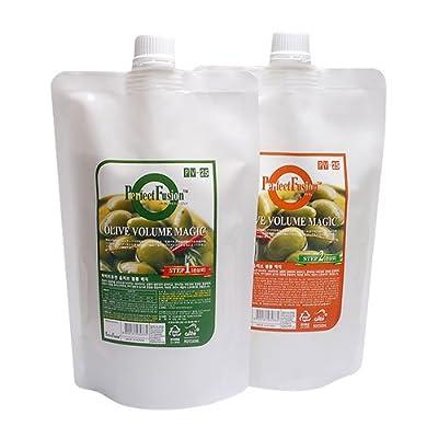 [Boncosmetic] Perfect Fusion Olive Volume Magic 1000ml Hair Straightener Set / Damaged Hair Type
