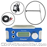 Fmuser Fu-01a 1w Fm Pll Radio Broadcast Transmitter Pc Control 76-108mhz with 1/2 Wave Dipole Antenna and Power Adapter+audio Cable